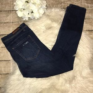 Zara Trafaluc Distressed Denim Skinny Jeans